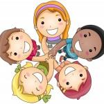 547767_mani-gruppo-bambini-ragazza-bambino-amici
