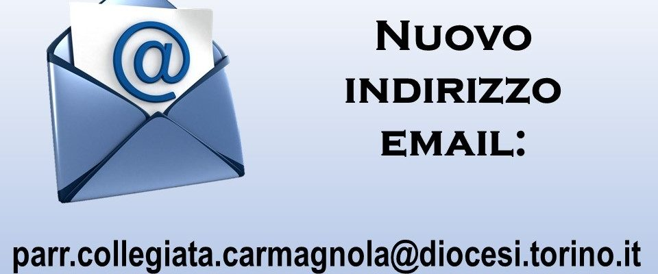 Nuovo indirizzo email!